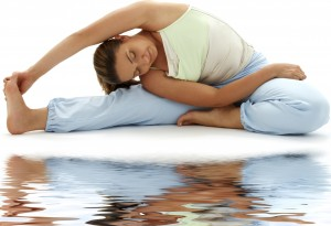 ashtanga yoga on white sand